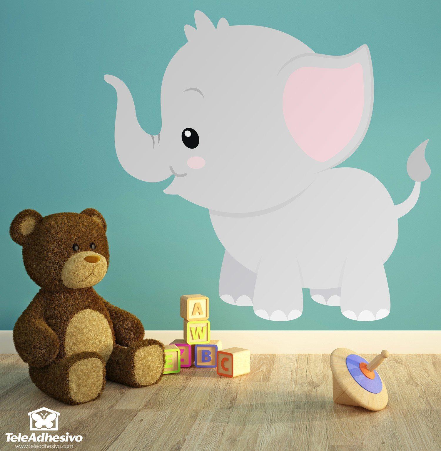 Kinderzimmer wandtattoo elefant vincent - Wandsticker elefant ...