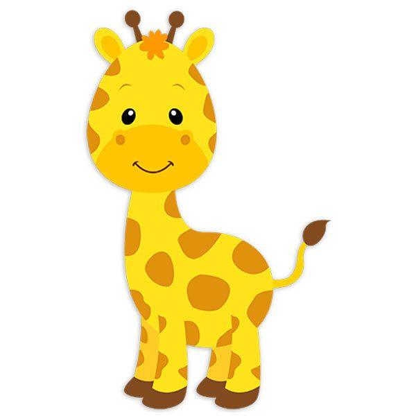 Wandtattoo kinder Giraffe glücklich | WebWandtattoo.com