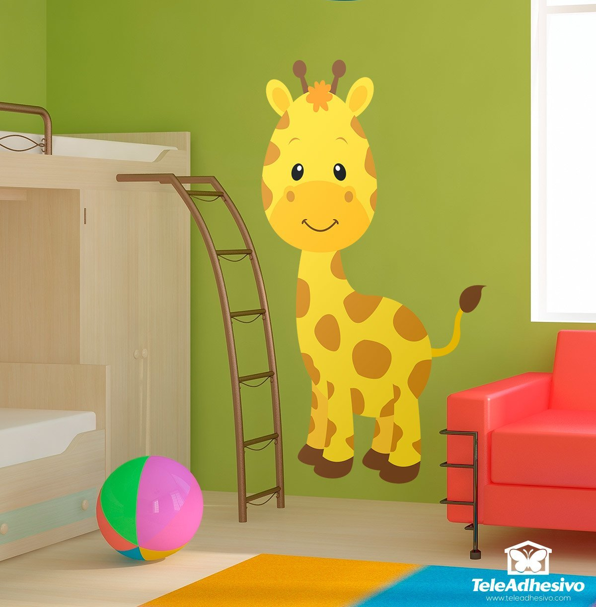 kinderzimmer wandtattoo giraffe sophie. Black Bedroom Furniture Sets. Home Design Ideas