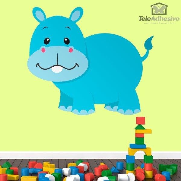 Kinderzimmer Wandtattoo: Nilpferd Tim