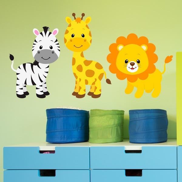 Wandtattoo Kinder Safari Zebra Giraffe Und Lowe Webwandtattoo Com
