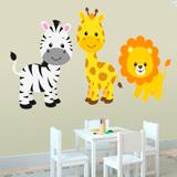 Kinderzimmer Wandtattoo: Safari Zebras, Giraffen und Löwen 3