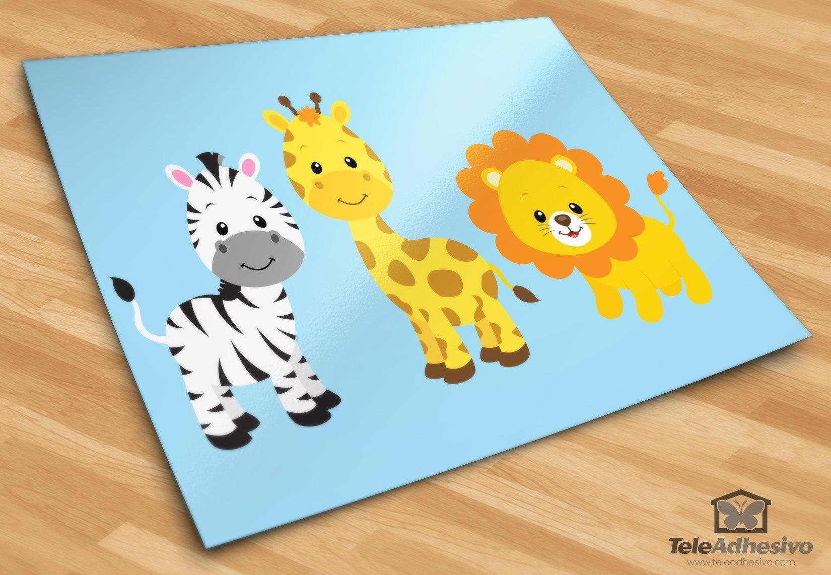 Kinderzimmer Wandtattoo: Safari Zebras, Giraffen und Löwen