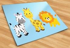 Kinderzimmer Wandtattoo: Safari Zebras, Giraffen und Löwen 6