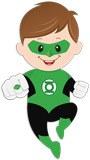 Kinderzimmer Wandtattoo: Green Lantern 5