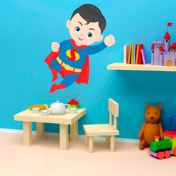 Kinderzimmer Wandtattoo: Superman fliegt
