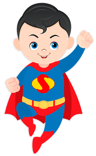 Kinderzimmer Wandtattoo: Superman Fliegen