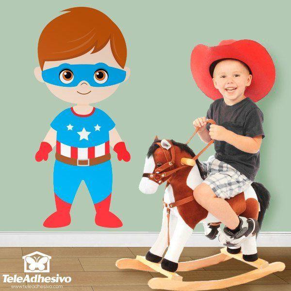 Kinderzimmer Wandtattoo: Captain America