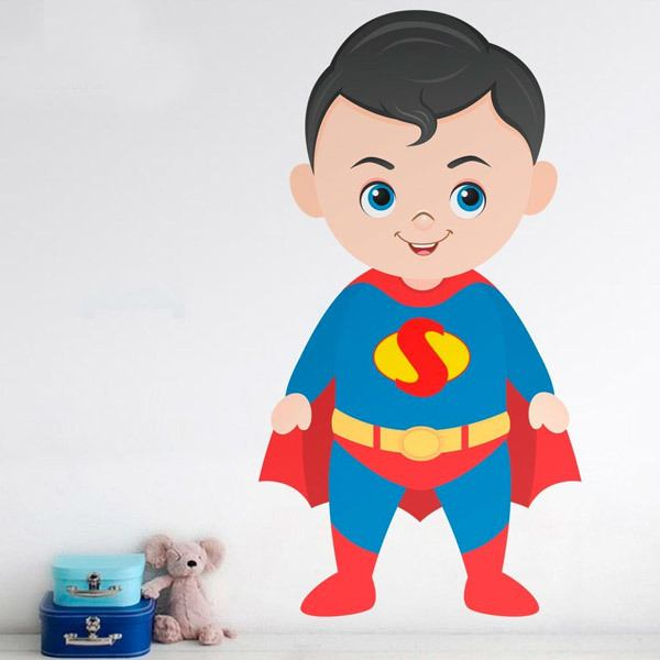 Kinderzimmer Wandtattoo: Superman