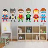Kinderzimmer Wandtattoo: Kit Helden stehen 0