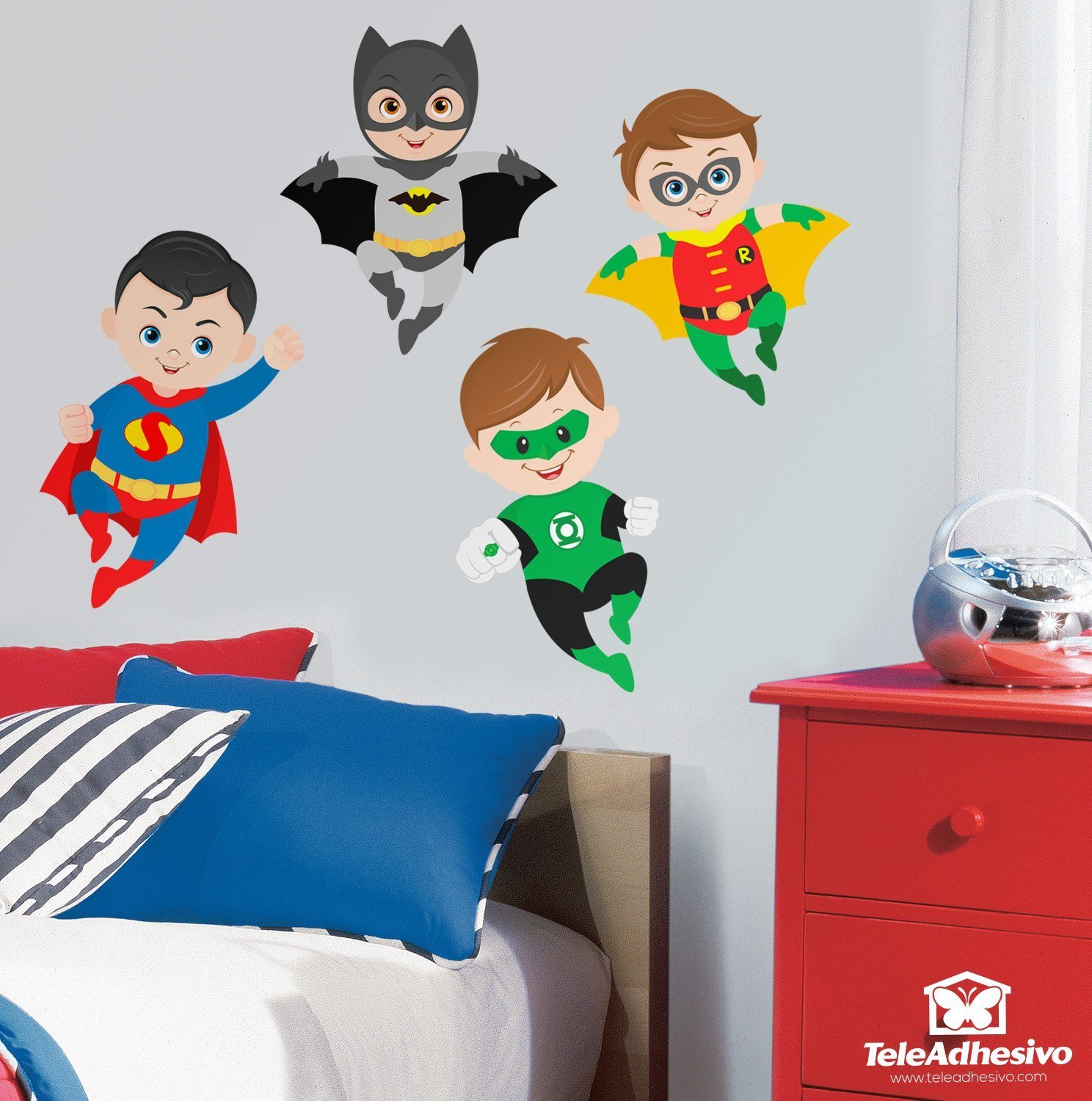 Batman Wall Mural Wandtattoo Kinder Kit Superhelden Fliegen