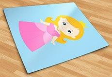 Kinderzimmer Wandtattoo: Zauberer von Oz Princess 3