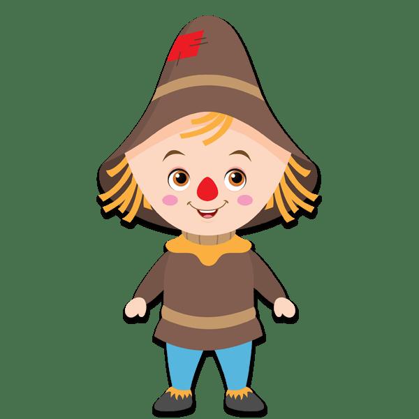 Kinderzimmer Wandtattoo: Vogelscheuche Zauberer von Oz