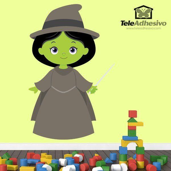 Kinderzimmer Wandtattoo: Hexe Zauberer von Oz