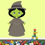 Kinderzimmer Wandtattoo: Hexe Zauberer von Oz 3