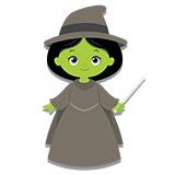 Kinderzimmer Wandtattoo: Hexe Zauberer von Oz 6