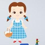 Kinderzimmer Wandtattoo: Dorothy Zauberer von Oz Warenkorb 3