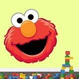 Kinderzimmer Wandtattoo: Gesicht Elmo 1