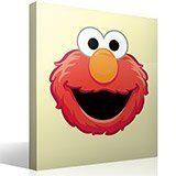Kinderzimmer Wandtattoo: Gesicht Elmo 4