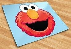 Kinderzimmer Wandtattoo: Gesicht Elmo 5