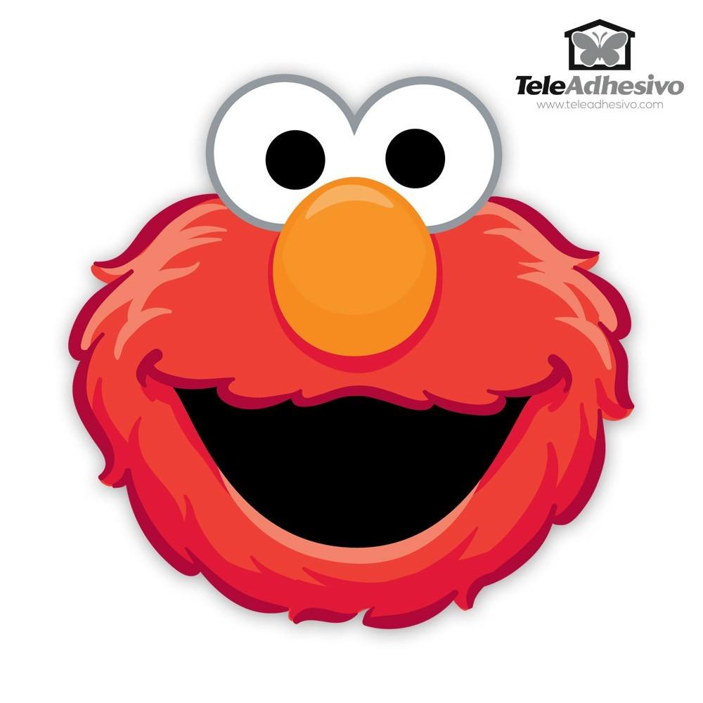Kinderzimmer Wandtattoo: Gesicht Elmo
