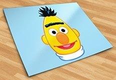 Kinderzimmer Wandtattoo: Gesicht Bert 5