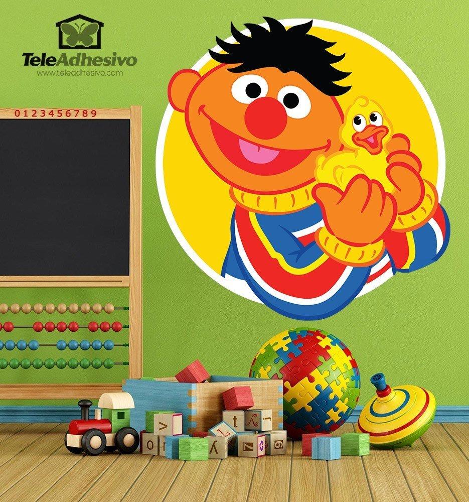 Kinderzimmer Wandtattoo: Ernie mit Ente