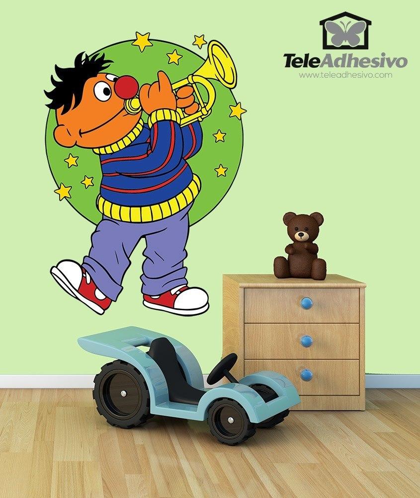 Kinderzimmer Wandtattoo: Ernie Trompete