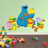 Kinderzimmer Wandtattoo: Cookie Monster 3