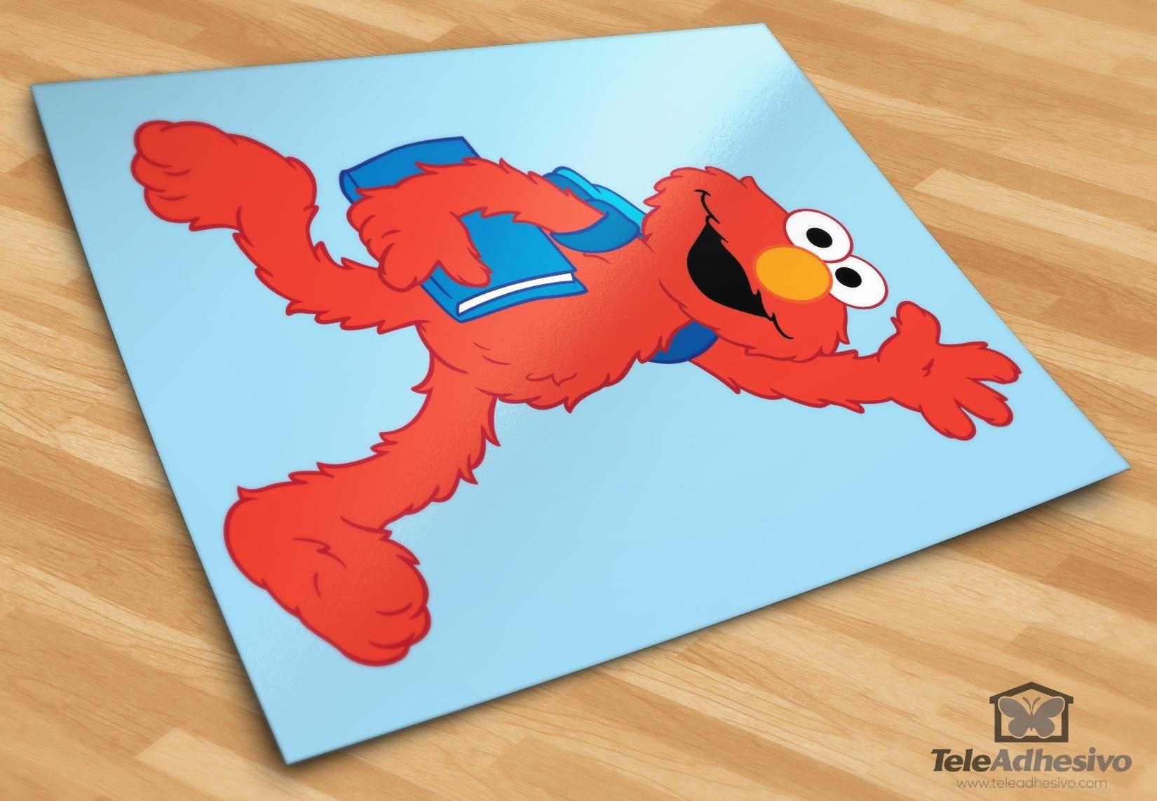 Kinderzimmer Wandtattoo: Elmo Schule