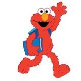 Kinderzimmer Wandtattoo: Elmo Schule 4