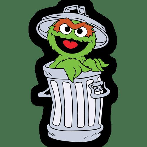 Kinderzimmer Wandtattoo: Oscar the Grouch Müll