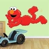 Kinderzimmer Wandtattoo: Elmo liegen 3