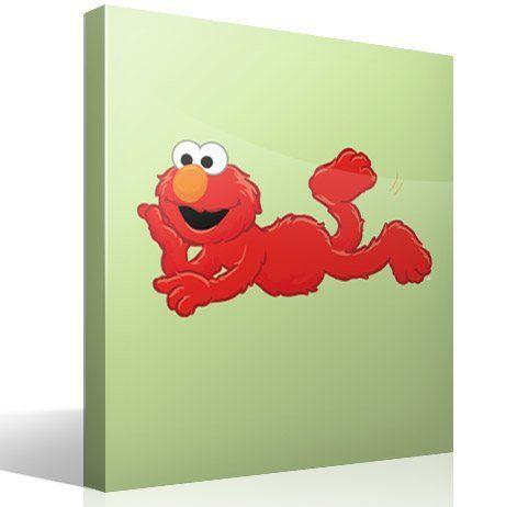 Kinderzimmer Wandtattoo: Elmo liegen
