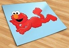 Kinderzimmer Wandtattoo: Elmo liegen 5