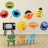 Kinderzimmer Wandtattoo: Kit Sesame street 3