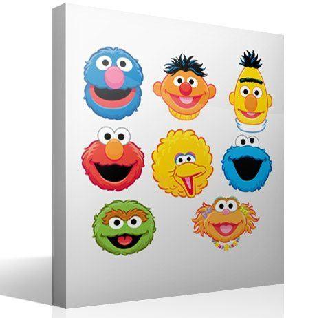 Kinderzimmer Wandtattoo: Kit Sesame street