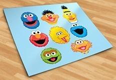 Kinderzimmer Wandtattoo: Kit Sesame street 5