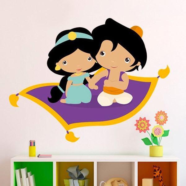Kinderzimmer wandtattoo jasmin und aladdin for Kinderzimmer jasmin