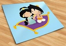 Kinderzimmer Wandtattoo: Jasmin und Aladdin 5