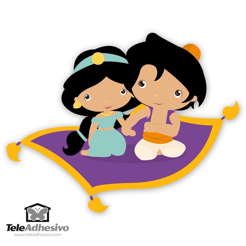 Kinderzimmer Wandtattoo: Jasmin und Aladdin