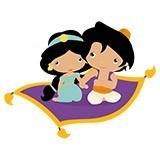 Kinderzimmer Wandtattoo: Jasmin und Aladdin 6
