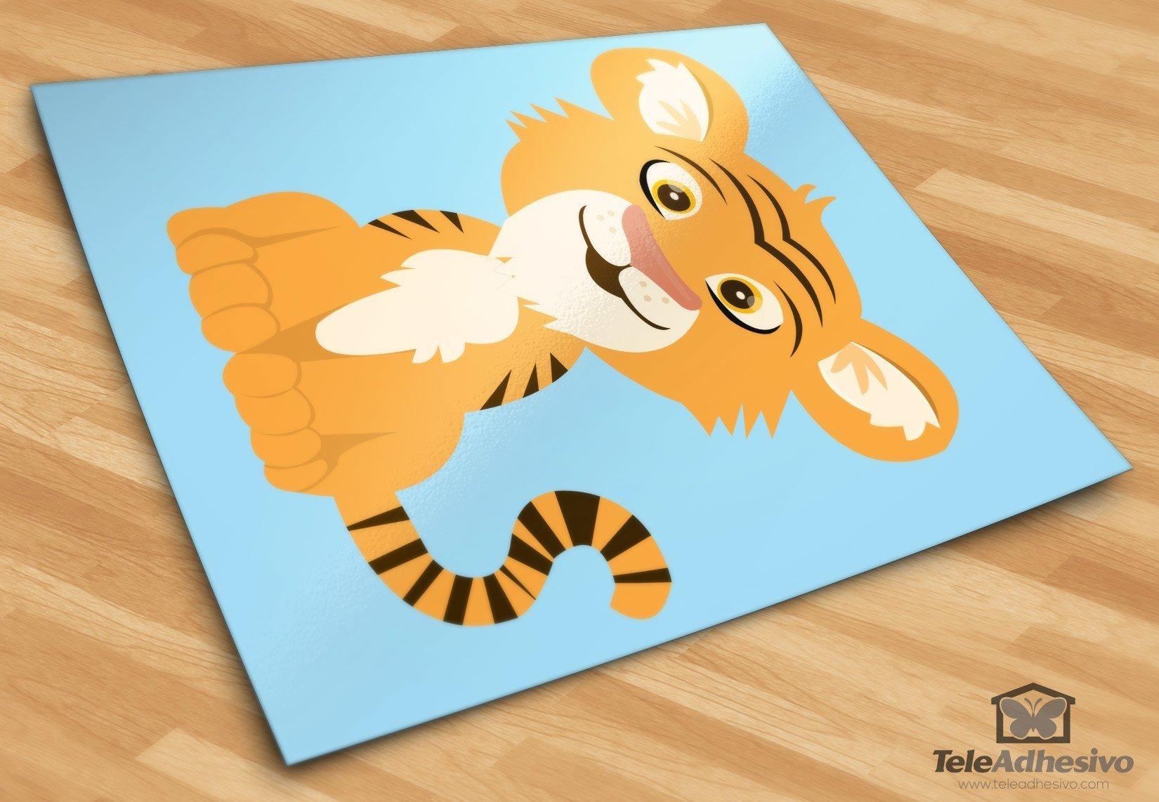Kinderzimmer Wandtattoo: Tiger Aladdin