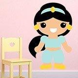 Kinderzimmer Wandtattoo: Prinzessin Jasmin 3