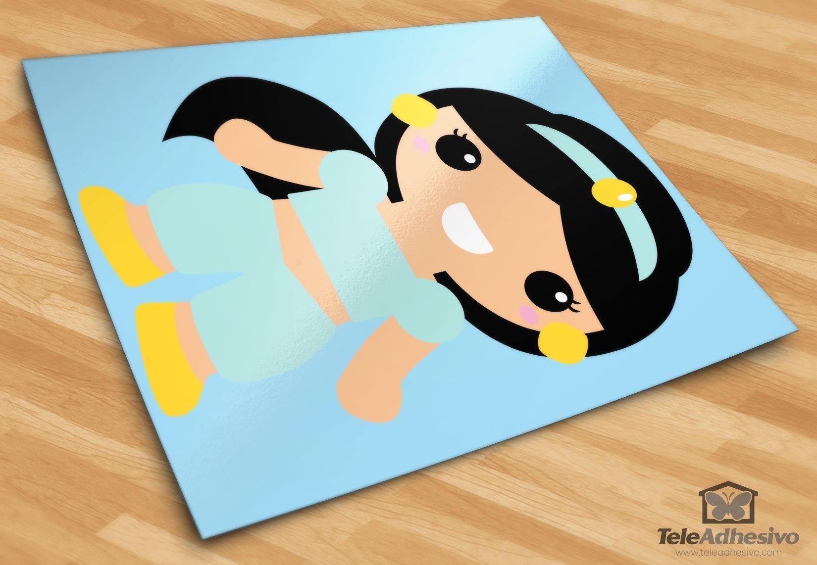 Kinderzimmer Wandtattoo: Prinzessin Jasmin