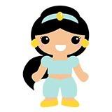 Kinderzimmer Wandtattoo: Prinzessin Jasmin 6