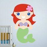 Kinderzimmer Wandtattoo: Die kleine Meerjungfrau 3