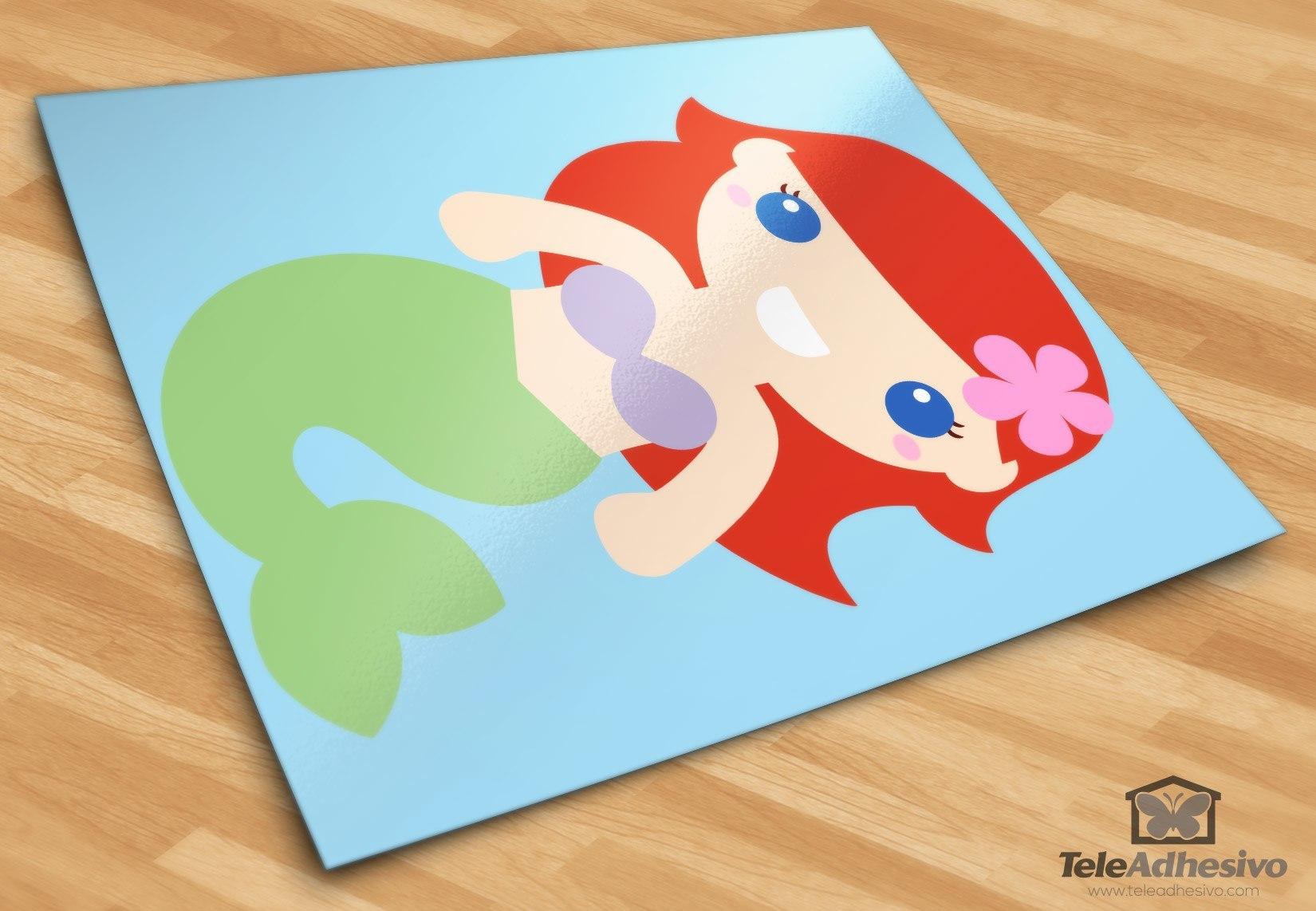 Kinderzimmer Wandtattoo: Die kleine Meerjungfrau