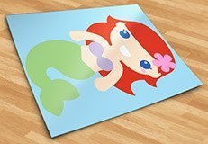 Kinderzimmer Wandtattoo: Die kleine Meerjungfrau 5
