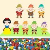 Kinderzimmer Wandtattoo: Kit Schneewittchen und die sieben Zwerge 1